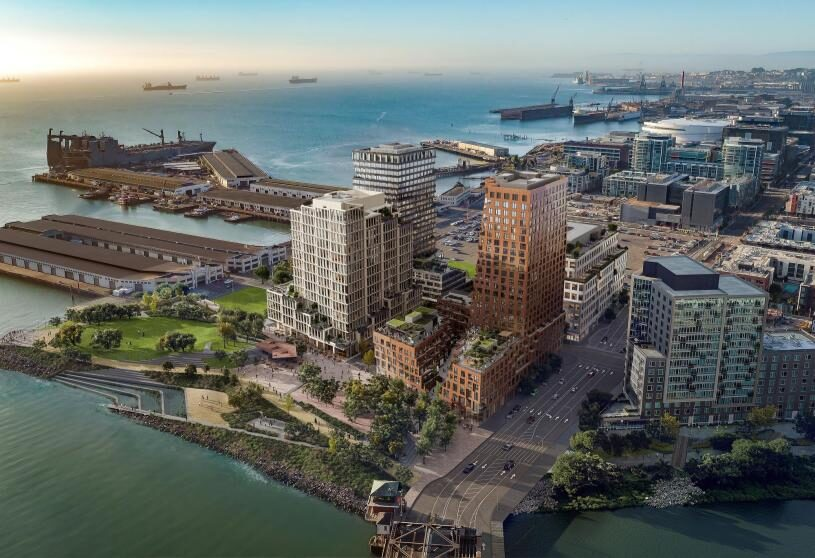 Construction begins on MVRDV's mixed-use tower in San Francisco – geology inspired design takes pride of place in Mission Rock's new neighborhood