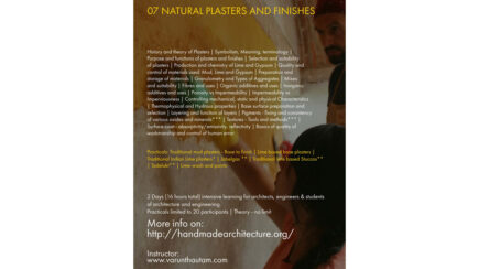 Handmade Architecture Workshop: Natural Plasters and Finishes