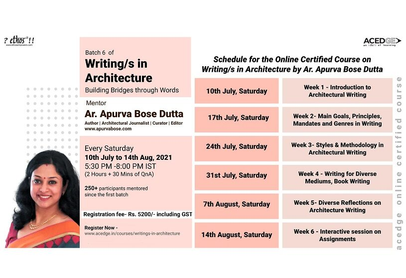 Writing/s in Architecture | Writing Course
