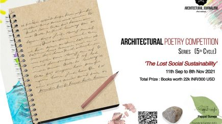 Architectural Poetry Competition, 5th Cycle: 'The Lost Social Sustainability'