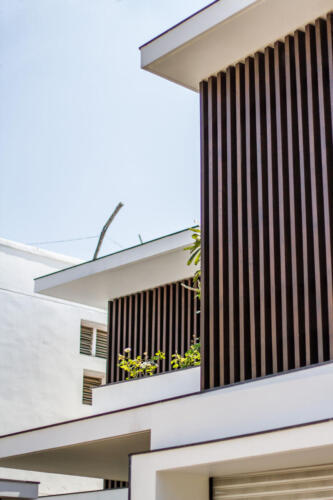 07.Vertical Louvres have been provided to give privacy yet ventilation
