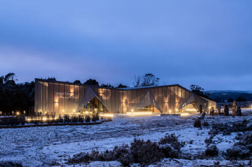 1. Cradle Mountain visitor centre at twilight