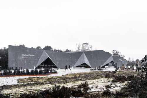 2. Cradle Mountain visitor centre in the snow