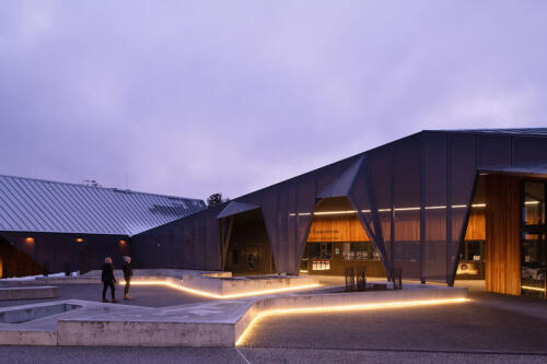 22. Cradle Mountain visitor centre at twilight