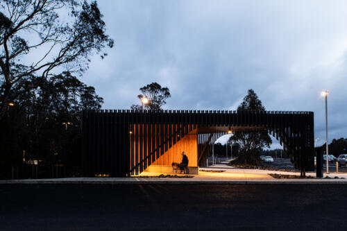 6. Cradle Mountain bus stop at twilight
