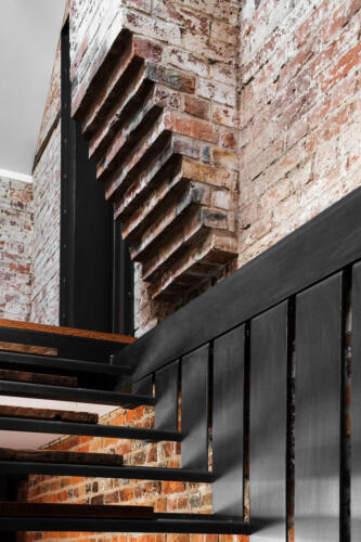 Symmons Plains steel floating staircase detail