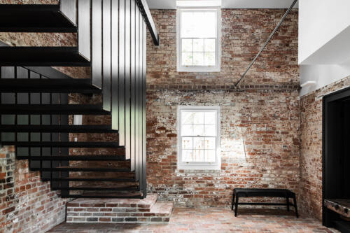 Symmons Plains steel floating staircase