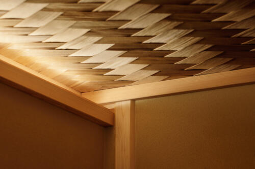 private room ceiling detail